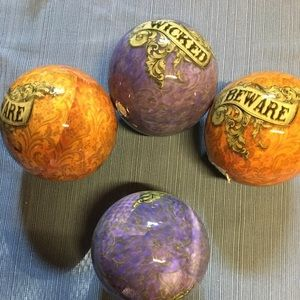 New BEWARE & wicked hollow balls!  Decorative